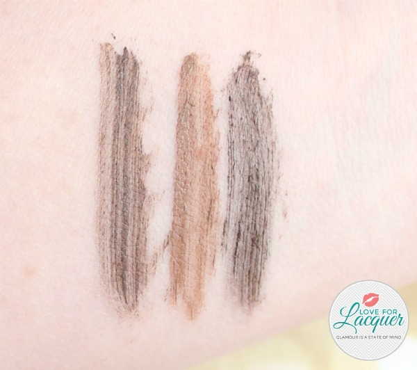 BrowFood Swatches