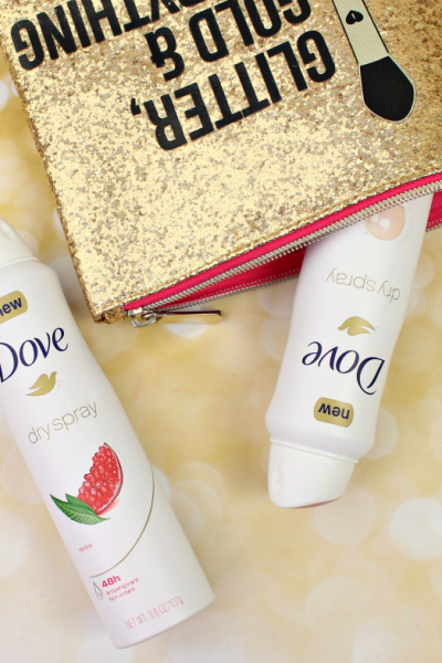 Staying fresh on the go this Holiday season with Dove Dry Spray