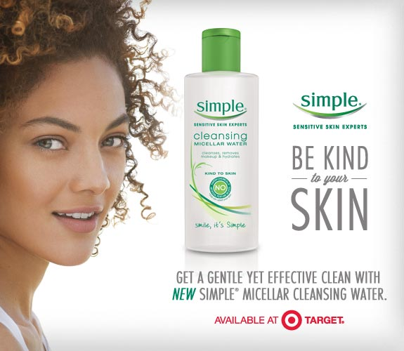 Skin Care Ads: Get A Better Cleanse With NEW Simple Micellar Water At