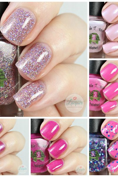 Turtle Tootsie Polish Breast Cancer Awareness Collection | Swatches & Review