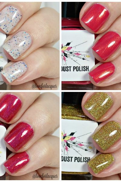 StarDust Polish Swatches & Review   Yes Your Majesty, Poppies, Marigold & Autumn Sky