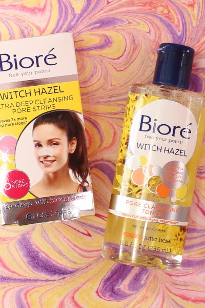 Say Thank u,Next To Blackheads & Breakouts With Bioré Witch Hazel Pore Strips & Toner